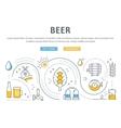 Beer Web Banner vector image