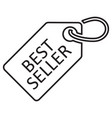best seller tag line icon black color isolated vector image
