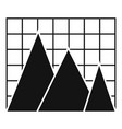 business chart icon simple vector image
