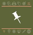 drawing pin icon vector image
