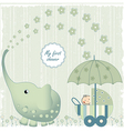 first baby shower vector image