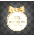 Golden christmas sphere vector image