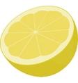 half of yellow lemon isolated on white vector image