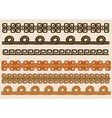 Native American pattern border set vector image