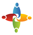 Teamwork unity logo vector image vector image