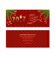 New Year 2017 Red christmassy backgrounds vector image