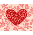 symbol of the heart with swirls vector image vector image
