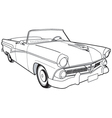 1957 Ford Customline Sedan vector image