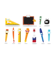 Funny School Equipment vector image vector image