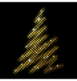 christmas fir tree from disco mosaic vector image vector image