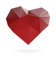 abstract heart symbol low poly vector image vector image