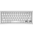 Laptop keyboard vector image
