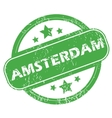 Amsterdam green stamp vector image
