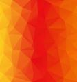 orange yellow polygonal triangular pattern vector image