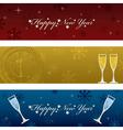 horizontal new years banners vector image