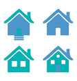 Colorful flat icons Homes isolated vector image