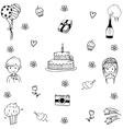 Element wedding doodle vector image