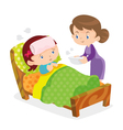mother take care sick girls vector image