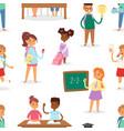 back to school kids boys and girls children school vector image