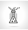 Chemical reaction black line design icon vector image