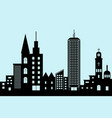 cityscape black architectural building icon vector image