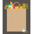 Grocery bag vector image
