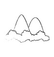 mountains icon image vector image