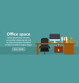 office space banner horizontal concept vector image