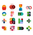 set of circle business infographic templates vector image