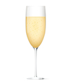 Champagne glass vector image