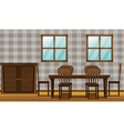 Dining room vector image