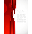 Abstract red background with lines vector image vector image