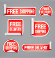free shipping and free delivery labels vector image