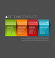 four product service options template vector image vector image