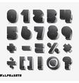3D alphabet number black color vector image