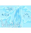 waterfall winter vector image