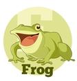 ABC Cartoon Frog vector image