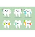 healthy teeth set vector image