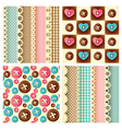craft seamless pattern vector image vector image