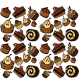 cakes pattern vector image
