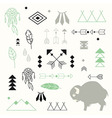 Collection of native American symbols vector image