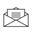 envelope with letter icon vector image