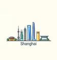 flat line shanghai banner vector image
