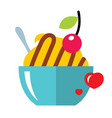 love sweet dessert flat style colorful vector image