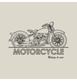 Motorcycle retro poster vector image