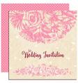 Wedding invitation floral decoration over vintage vector image