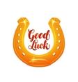 Golden horseshoe for luck vector image