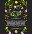 floral poster for spring greeting design vector image
