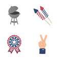 barbecue salute voting ebblema victory the vector image