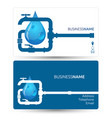 business card for repair plumbing vector image vector image